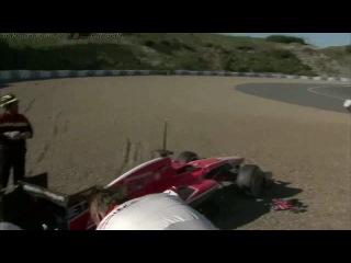 Авария Макса Чилтона на Marussia в первый день тестов в Хересе